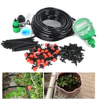 automatic watering plants - 25m Diy Drip Irrigation System Kit Plant Automatic Self Watering Garden Hose Arrosage Automatique Micro Drip Garden Watering