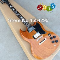 Wholesale Best Electric guitar S G Custom Shop G Guitar Mahogany Natural color All Color are available Real photo shows
