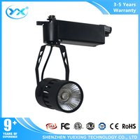 Wholesale dimmable led track lighting YueXing cob watt W cob led track light k lm withe and black
