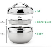 Wholesale 2015 lunch box L heat preservation layers Apple shape bento box Oval mess tin no have Chopsticks spoon F