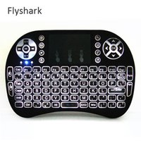 arabic usb keyboard - Wireless Laser Keyboard Air Mouse Backlight New RII I8 G wireless Gaming Keyboards Mini II Touchpad Bluetooth Keyboard Arabic