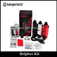 boring - Authentic Kanger Dripbox Kit with KangerTech Subdrip Tank Dripmod Box Mod Wide Bore Drip Tip Black White Red Color