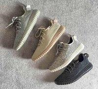 Wholesale Sale Y Boost Sneakers Running Shoes Men Women Zapatillas Kanye West Man Boost Sports Shoes Grey Footwear