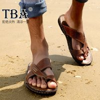 best mens flip flops - Cheap Slides Men s Flip Flops Casual Shoes Summer Mens Slippers Men Beach Sandals Platform Male Shoes Genuine Leather Best Quality