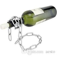 Wholesale Creative New Silver Chain Wine Bottle Holder Floating Wine Rack Accessories Bar E701