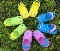 Wholesale 2016 Summer New Kids Clogs Shoes children summer sandals Baby sandals cartoon caterpillar children garden shoes cool slipper Flip flops girl