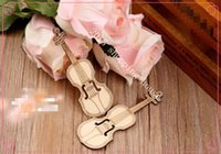 Wholesale Mini small wooden guitar wooden crafts photography props for kids toys