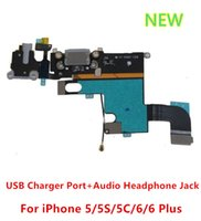 bars data - Original Headphone Audio Jack Dock Connector usb Charger Charging Data Port Flex Cable for iphone g s c PLUS