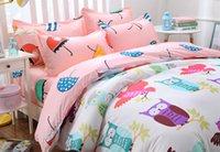 batman comforters - 3pcs Owl Superman Batman bedding sets cartoon bed linen bed set duvet cover bed sheet pillowcase king queen full twin size
