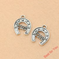 antique stirrups - 100pcs Antique Silver Tone Good Luck Stirrup Charms Fashion Pendants Jewelry DIY Jewelry Making Handmade x14mm jewelry making