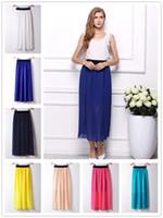 Wholesale 2016 New Hot Elastic Waist Skirts Colors Casual Elegant Sexy Skirts For Women Beautifull Fashion Mini Women Chiffon Skirt