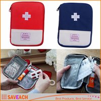 Wholesale 2 Colors Outdoor Camping Home Survival Portable First Aid Kit bag Medicines Case storage bag