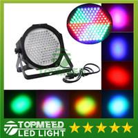 Wholesale DHL Super bright High Power high quality LED DMX512 Led lamp RGB Par Light Led Flat DJ Equipments Controller