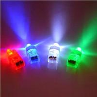 Wholesale 100pcs VERY CHEAP Pull on off non waterproof Light up LED laser finger light beam light