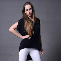 Wholesale 2016 Summer New Women s Modal Fashion Lady Jumper Tops Loose T shirts Ruffle Sleeve tee women s clothing