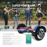 Wholesale New Electric Scooters Hover board Inch Bluetooth Speaker LED Light Wheel Scooter Self Balancing Scooter Smart Balance Hoverboard