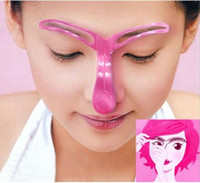 Wholesale Professional Eyebrow Shaping Shaper Stencil Template Stereo Plastic Makeup Eye Brow Styling Tools