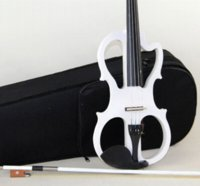 Wholesale 4 violin Send violin Hard case Handmade white electric violin with power lines