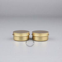 aluminium metal powder - x g Golden Aluminium Jar Empty Metal Powder Containers Aluminum Case Pot Box Makeup Packaging