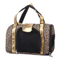 Wholesale Bestselling Printing Leopard Pet Carrier Pet Bag Tote for Cat Dog