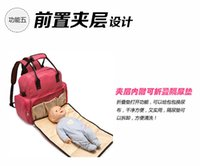 Wholesale Multifunctional baby diaper bag Feeding bottle sleave mummy bag can remove spacer urine pad large capacity with four backpack