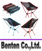 camping chairs - Outdoor Folding Chair Portable Chair Folding Seat Stool For Fishing Camping Hiking Gardening Beach Fishing Picnic BBQ with Bag LLFA
