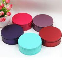 wholesale tea tins - 400pcs Colorful Round Tin Box Medicine Tea Organizer Wedding Tinplate Jewelry Storage Case Christmas Gift ZA0813