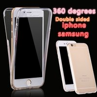Wholesale 360 Degree Full Body Case Front Back Cover Soft TPU Touch Clear Protector for iPhone S plus S SE Samsung S7 S6 Edge Plus A7 A8 G530 G360