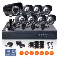 Wholesale 8CH H HDMI Network DVR TVL outdoor indoor Leds up to ft motion detection CCTV Security Camera System With TB HDD Pre install
