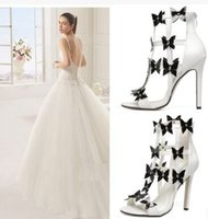 bar and noble - New Arrival Fashion Princess Summer Noble Super Nightclub Bar Peep Toe Europe Stiletto White Hollow Bow Party Heel Sandals EU35