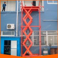 Wholesale 1m m Building Material Stationary Scissor Lift Machine Construction Use warehouse Cargo Lift