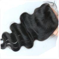 Cheap Best Quality Bleached Knots Brazilian Virgin Hair Silk Base Closure Swiss Lace Unprocessed Human Hair Closures Free Shipping