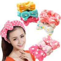 big lots towels - yellow a of the same paragraph hair band mask to do big Bow Headband headbands makeup wash your face with the towel DHL free I201652706