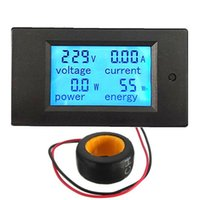 Wholesale Lowest Price AC A Digital LED Power Panel Meter Monitor Power Energy Voltmeter Ammeter