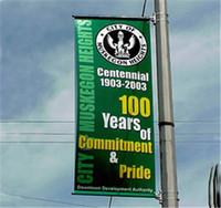 advertisment banners - Custom Flag Banner Company Advertisment Flags and Banners Street Pole Banners DIY Customize PVC Vinyl Banners Customized Size