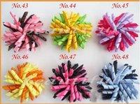 Bigoudis de ruban Avis-Les curleurs pour enfants 100 pcs arcs fleurs, bouchon de cheveux barrettes korker ruban cheveux clip cheveux accessoires enfants