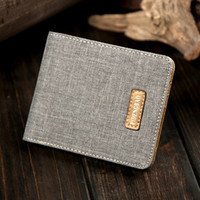 Wholesale 2015 Fashion Men s Wallets Denim Thin Men s small wallet Men s Purses Short Mini Male canvas Wallet Female Quality Money Purses
