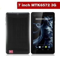 Wholesale 7 quot G Phablet Phone Calling Tablet PC MTK6572 Dual Core Android Capacitive Touch WCDMA GSM Bluetooth Camera Dual Sim Card