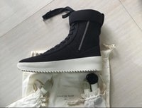 art swim - Fear God1 Socks Men Winter Boots Owen Winter Shoes fear of god High shoe FOG black white military boots high street boots high quality