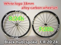 Wholesale FFWD White hollow decals mm carbon alloy wheels Made in China road bicycle wheelset K weave mm width A271 hub