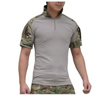 airsoft uniforms - outdoor Tactical Camouflage Hunting Combat Shirt Men Army Multicam Military Uniform Short T Shirt Airsoft Paintball Clothes