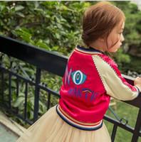 baseballs red jacket - 2016 new autumn Korean Korean children s clothing girls coat Embroidered Baseball Jacket