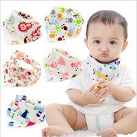 Wholesale 32 styles Baby Bibs Towel Bandanas Triangle Burp Saliva Burp Saliva Infant Toddler Bandana Scarf Double Layers Kids Nursing Bibs