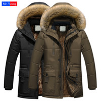 Wholesale Fall Winter Duck Down Jacket Long Thicker Warm Multi Pockets Casual Sports Wool Fur Hooded Coat Parka Down Jackets Luxury Brand