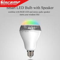 Wholesale New Wireless Control Speaker Smart Music Audio Speaker LED RGB Color Bulb Light Lamps E27 D5528B