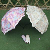 Wholesale Fashion umbrella cute folded creative colorful sunshade umbrella personality kid umbrella rain newest Design Personalized gift umbrella