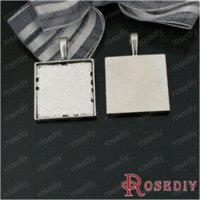 bezels jewelry - Total Random Mixed Styles Trays Bezels Pendants Square and Rectangular Cabochon Beads Settings Jewelry Findings