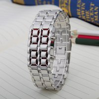 Wholesale The explosion of foreign trade LED lava students iron Samurai fashion watch chain creative Korean couple explosion