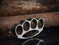 Wholesale Safety Products THICK CHROMED STEEL BRASS KNUCKLES KNUCKLE DUSTER