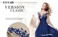 Wholesale 2016 Sexy Womans Sleeveless Lace Hollow Backless Embroidered Evening Party Dress Three Colors Black Bule Red